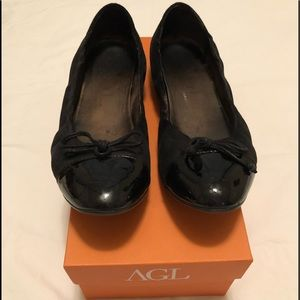 AGL Leather and Patent Flats